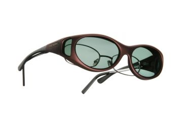 Cocoons Stream Line Over-Glasses Sunglasses, SM Burgundy Frame, Gray Lenses C609G