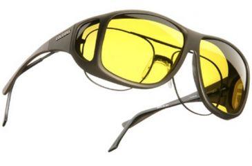 Cocoons Aviator Over-Prescription Sunglasses, XL Sand Frame, Yellow Lenses C205Y