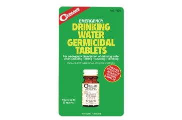 Coghlans Emergency Germicidal Drinking Water Tablets 50 Per Bottle 7620