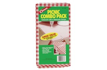 Coghlans Picnic Tablecloth and 6 Clamps 54x72 Inches 0660