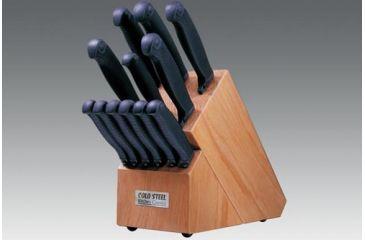 Cold Steel Kitchen Classic Block Set, 13 Pc., Kraton Handle, Oak Block 59KSET
