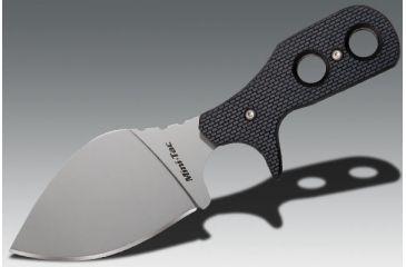 Cold Steel Mini Tac Beaver Tail, Black Faux G-10 Handle, Plain 49HBF