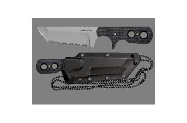 4-Cold Steel Mini Tac 6.5in Tanto Fixed Blade Neck Knife