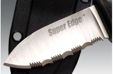 Cold Steel Super Edge, Kraton Handle, Serrated, Secure-Ex Sheath 42SS