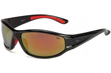 Coleman Snapper Sunglasses - Black Frame and Red Mirrored Lens 842749031156