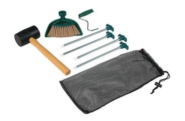 1-Coleman Tent Kit W/ Rubber Mallet, 4 Tent Stakes, Stake Puller, Hand Broom, Dustpan