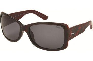Coleman TR90 Fashion 6518 Polarized Sunglasses - Burgundy Frame, Smoke Lenses CC2 6518-C3