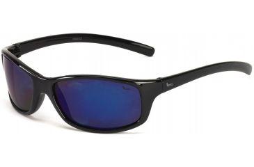 Coleman Tuna Sunglasses - Black Frame and Blue Mirrored Lens 842749031149