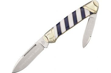 Colt Blue Ribbon Series Canoe Folding Knife,Stainless Spear and Pen Blade, Synthetic Striped Handle CT561