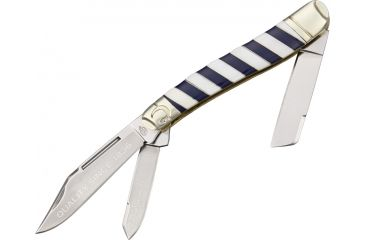 Colt Blue Ribbon Series Large Stockman Folding Knife,Stainless Blade, Synthetic Striped Handle CT565