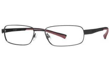 Columbia Big Bend Eyeglass Frames - Frame Shiny Black/Black-Red, Size 58/18mm CBBIGBEND01