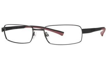 Columbia Big Cypress Single Vision Prescription Eyeglasses - Frame Shiny Gun/Black-Red, Size 57/18mm CBBIGCYPRESS01
