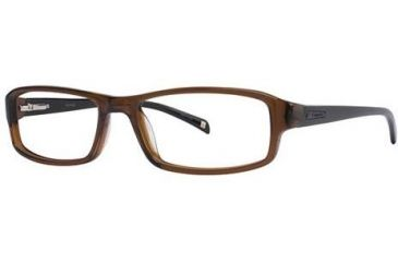 Columbia Boone Bifocal Prescription Eyeglasses - Frame Transparent Brown/Black, Size 54/16mm CBBOONE01