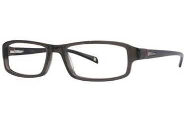 Columbia Boone Bifocal Prescription Eyeglasses - Frame Transparent Grey/Black, Size 54/16mm CBBOONE02