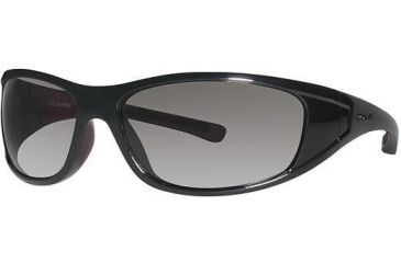 Columbia Chute Sunglasses - Frame Shiny Black/Thunderbird Red, Lens Color Grey, Size 62/15mm CBCHUTEPZ602
