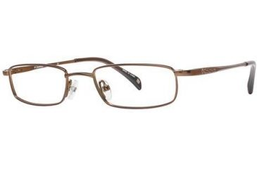 Columbia Cougar Flats 101 Single Vision Prescription Eyeglasses - Frame Brushed Brown, Size 46/17mm CBCOUGARFLT10101