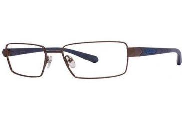 Columbia Gunnison Single Vision Prescription Eyeglasses - Frame Matte Brown/Blue, Size 55/17mm CBGUNNISON02