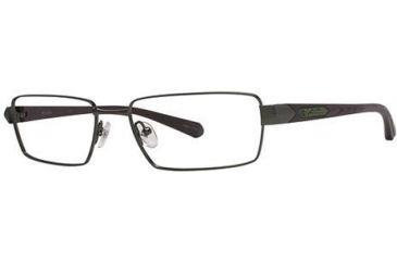 Columbia Gunnison Single Vision Prescription Eyeglasses - Frame Matte Dark Tank/Brown, Size 55/17mm CBGUNNISON01