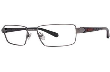 Columbia Gunnison Single Vision Prescription Eyeglasses - Frame Matte Light Gunmetal/Black, Size 55/17mm CBGUNNISON03