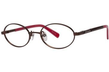 Columbia Jade Point Single Vision Prescription Eyeglasses - Frame Light Brown/Berry, Size 44/16mm CBJADEPOINT01