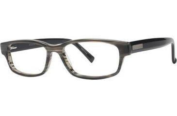Columbia Mount Diablo Single Vision Prescription Eyeglasses - Frame Grey Stripe/Black, Size 53/16mm CBMOUNTDIABLO01