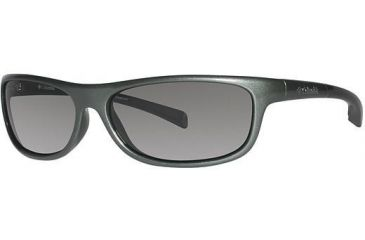 Columbia Panorama Sunglasses - Frame New Metallis Tank/Metallic Black, Lens Color Grey, Size 58/14mm CBPANORAMAPZ639
