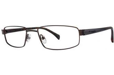 Columbia Riverbend 101 Single Vision Prescription Eyeglasses - Frame Brown, Size 54/18mm CBRIVERBEND10101