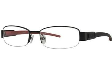 Columbia South Peak Single Vision Prescription Eyeglasses - Frame Black/Red, Size 52/17mm CBSOUTHPEAK01