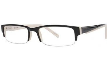 Columbia Vasquez Bifocal Prescription Eyeglasses - Frame Black/Cream, Size 54/18mm CBVASQUEZ01