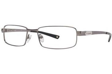 Columbia White River Single Vision Prescription Eyeglasses - Frame Shiny Gunmetal, Size 55/17mm CBWHITERIVER01