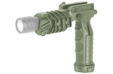 Command Arms Accessories Flashlight Grip Adaptor, Green FGAG