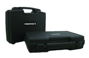 Condition 1 17in. Double Pistol Case w/ Slide Latch, Black H086BKF8056LNO
