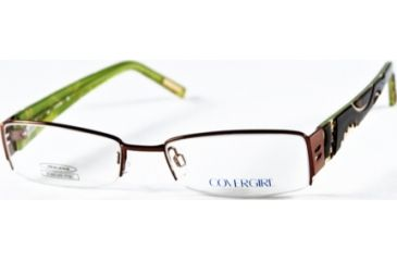 Cover Girl CG0379 Eyeglass Frames - Shiny Dark Brown Frame Color