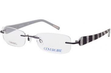 Cover Girl CG0389 Eyeglass Frames - Shiny Gun Metal Frame Color