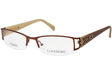 Cover Girl CG0394 Eyeglass Frames - Shiny Dark Brown Frame Color
