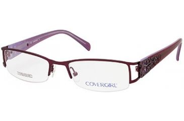 Cover Girl CG0394 Eyeglass Frames - Shiny Violet Frame Color