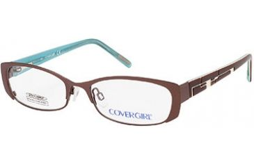 Cover Girl CG0397 Eyeglass Frames - Shiny Dark Brown Frame Color