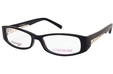 Cover Girl CG0417 Eyeglass Frames - Shiny Black Frame Color