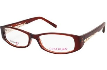 Cover Girl CG0417 Eyeglass Frames - Shiny Dark Brown Frame Color