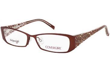 Cover Girl CG0418 Eyeglass Frames - Matte Dark Brown Frame Color