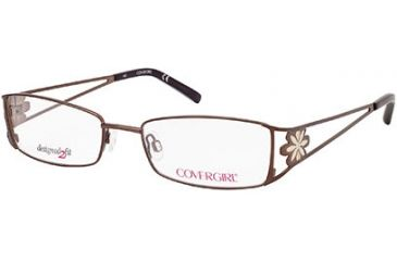 Cover Girl CG0421 Eyeglass Frames - Shiny Light Brown Frame Color