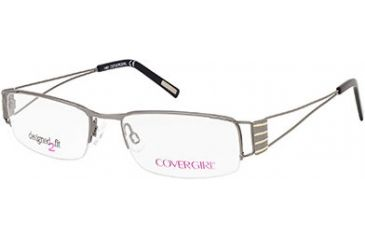 Cover Girl CG0423 Eyeglass Frames - Shiny Gun Metal Frame Color