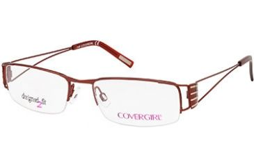 Cover Girl CG0423 Eyeglass Frames - Shiny Dark Brown Frame Color