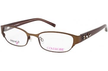 Cover Girl CG0424 Eyeglass Frames - Matte Light Brown Frame Color
