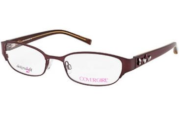 Cover Girl CG0424 Eyeglass Frames - Shiny Bordeaux Frame Color