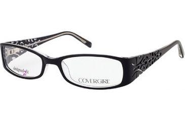 Cover Girl CG0429 Eyeglass Frames - Black/Crystal Frame Color