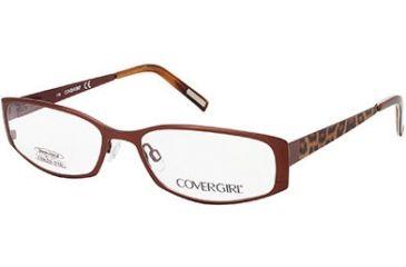 Cover Girl CG0505 Eyeglass Frames - Matte Light Brown Frame Color