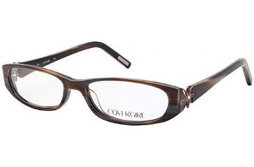 Cover Girl CG0507 Eyeglass Frames - Shiny Dark Brown Frame Color