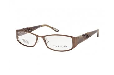 Cover Girl CG0511 Eyeglass Frames - Shiny Light Brown Frame Color