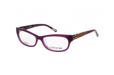 Cover Girl CG0512 Eyeglass Frames - Shiny Violet Frame Color